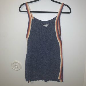 AE Crochet Tank with Stripes